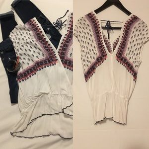 Free People vintage boho style material top sz S